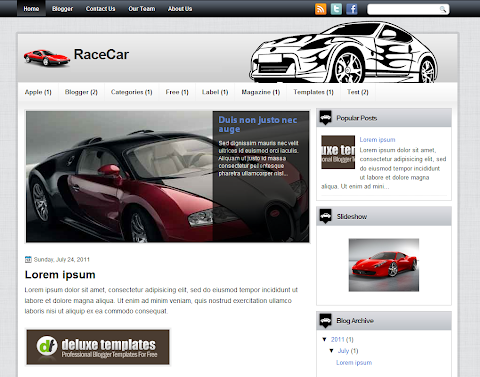 RaceCar Blogger Theme