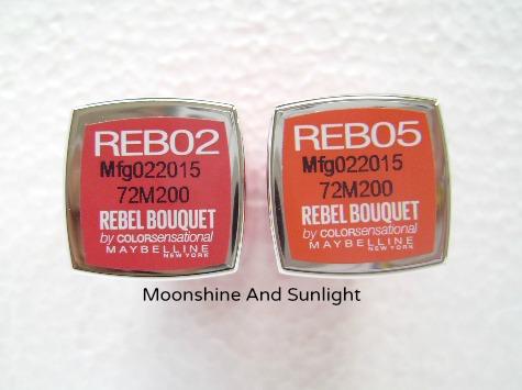 Maybelline Rebel Bouquet REB02, REB05 Review and Swatch, Price || #SpringUpYourSummer