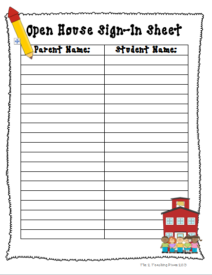 school sign in sheet template
