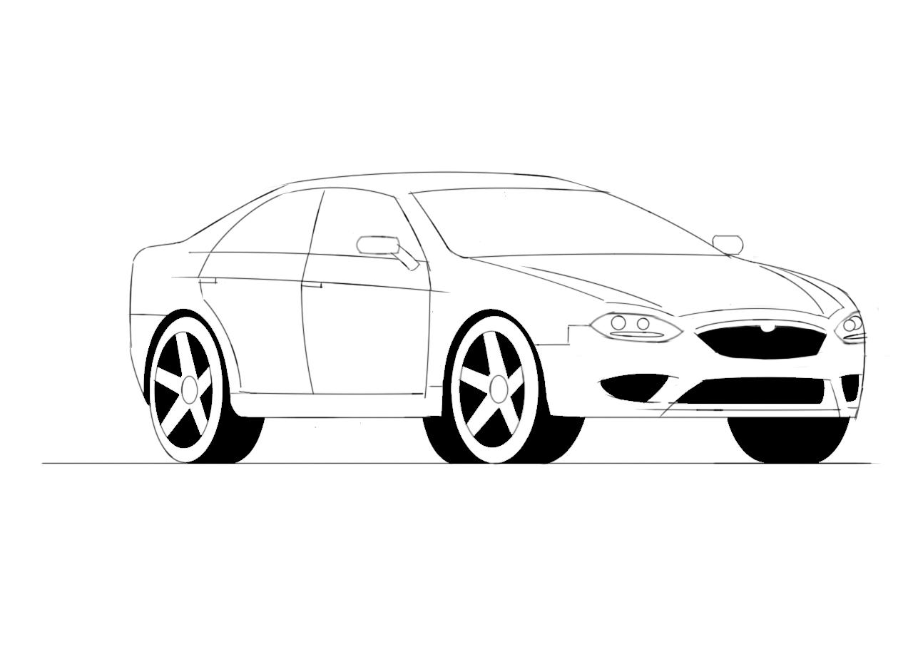 100    lamborghini sketch side view
