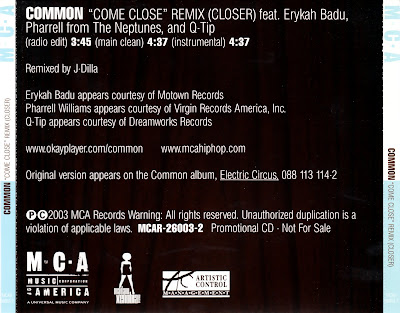 Common Feat. Erykah Badu Pharrell & Q-Tip - Come Close (Remix_Closer)-(Promo_CDS)-2003