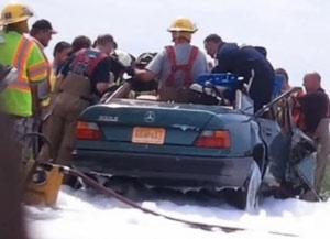 Anjo aparece em local de acidente e ajudado bombeiros a resgatar vítima; Entenda