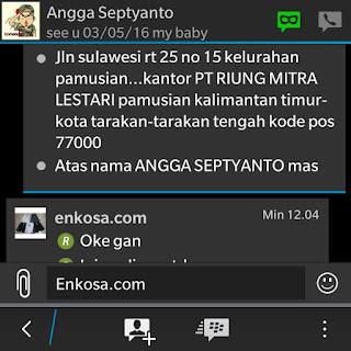 Alamat lengkap Angga Septyanto di enkosa sport toko online terpercaya lokasi di jakarta pasar tanah abang=