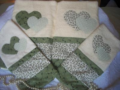 conjunto de toalhas patchwork