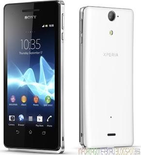 Harga Sony Xperia V SO-01E (Sony Tsubasa) Spesifikasi 2012