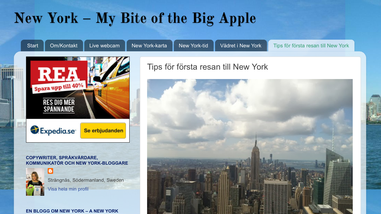 Min blogg om New York