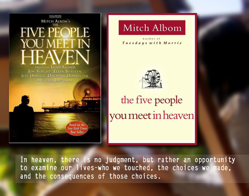 the 5 people you meet in heaven essay Free essays on essay on introduction paragraph in the five people meet in heaven get help with your writing 1 through 30.