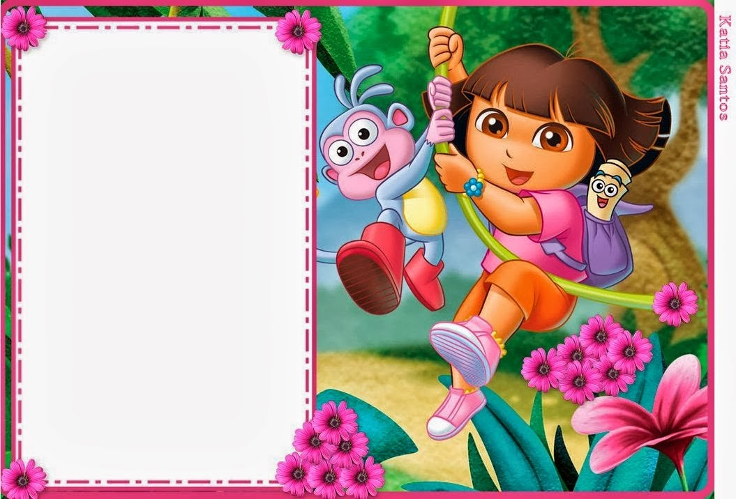 Dora the Explorer Free Printable Invitations Boxes and Party – Printable Dora Birthday Invitations