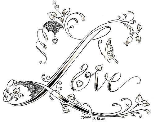 The Word Love Drawings