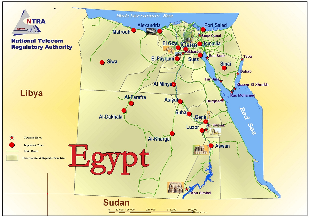 Map Of Egypt And Surrounding Countries My Blog - What country is egypt in