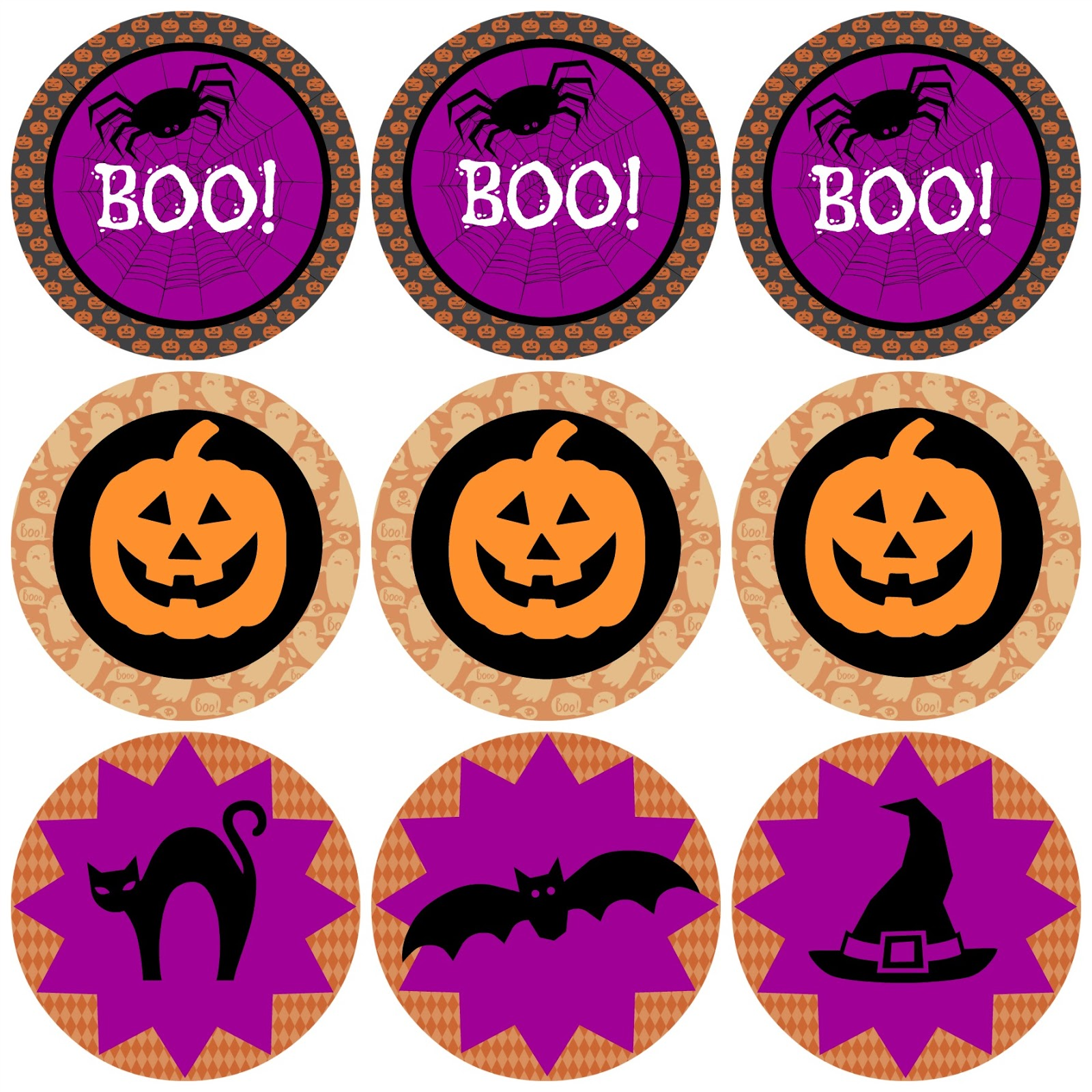 photo relating to Halloween Stickers Printable called Halloween Printable Check Times of Chalk and Chocolate