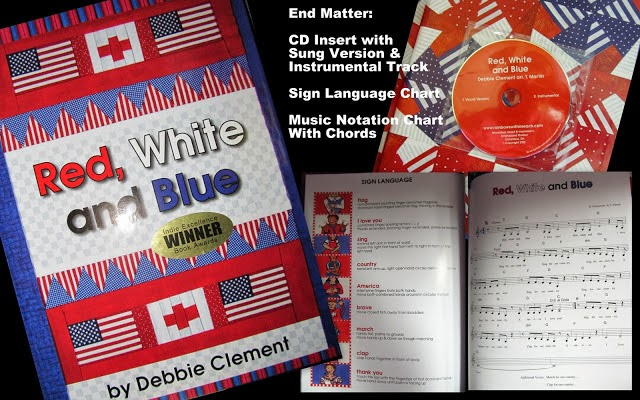 """Red, White and Blue"" Patriotic Picture Book for Veteran's Day at RainbowsWithinReach"