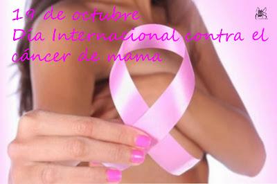 El 19 de octubre es el día internacional contra el cáncer de mama.
