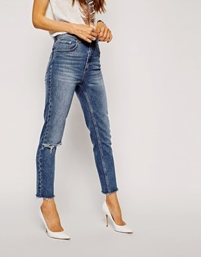 http://www.asos.com/asos/asos-farleigh-high-waist-slim-mom-jeans-in-vintage-wash-with-raw-hem-ripped-knee/prod/pgeproduct.aspx?iid=4229096&clr=Midwash&SearchQuery=Mom+jeans