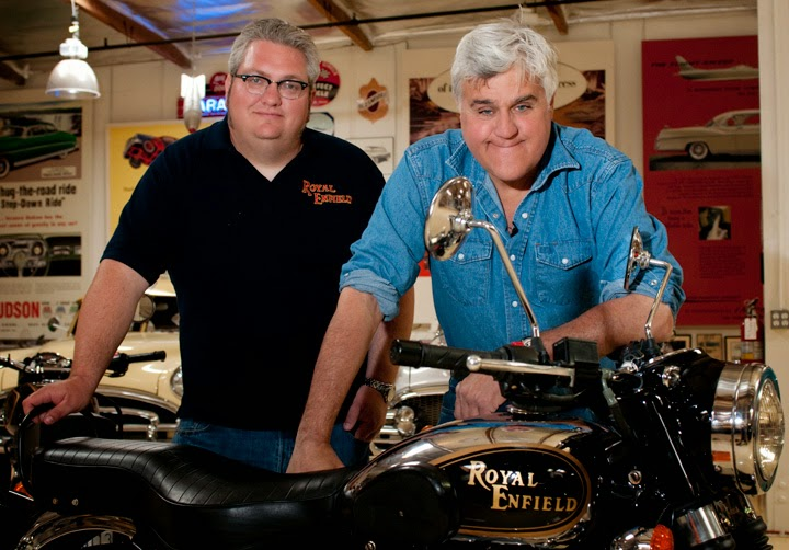 royal enfield sidecar in jay leno garage