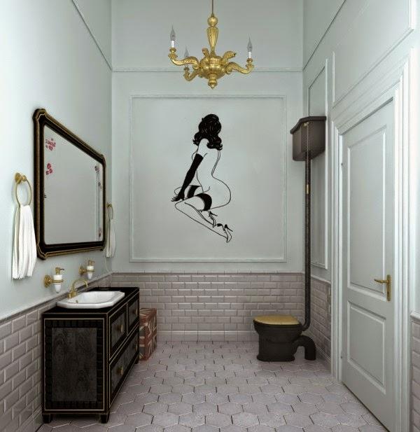 Hình ảnh cô gái khoả thân trên tường khêu gợi một cách nghệ thuật