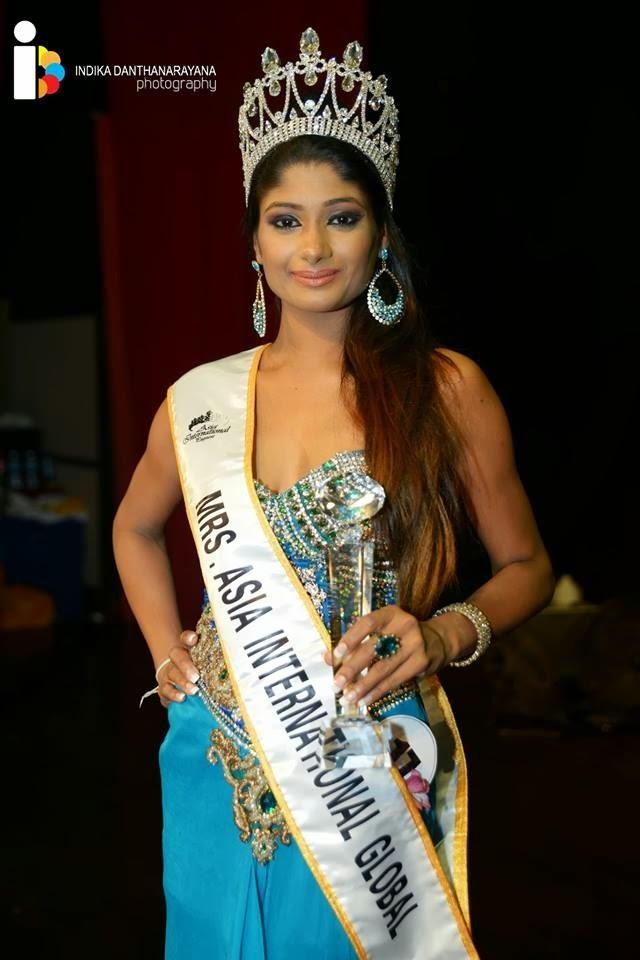 Nilanga Senanayake Mrs Asia International 2013