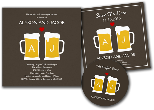 The Perfect Brew Engagement or Wedding Shower Custom Announcement