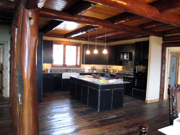Log Cabin Kitchens Interior Design Ideas
