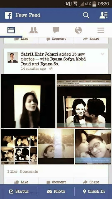 Gambar intim Zairil Dyana Sofya tersebar di media sosial