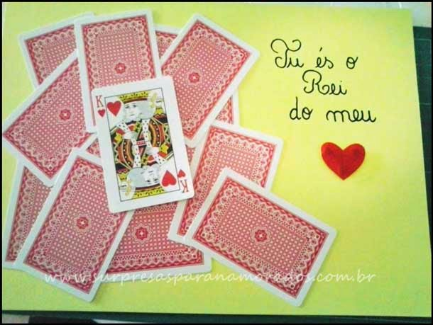 cartão rei do coração