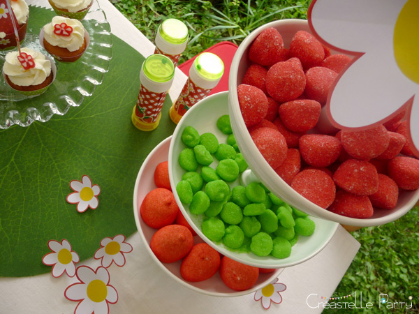 CreastelleParty - Fraise Kawaii - bonbons / Kawaii Strawberry - candy