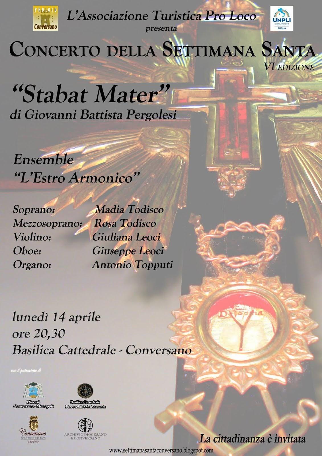 lunedì 14 aprile 2014 ore 20,00 Basilica Cattedrale