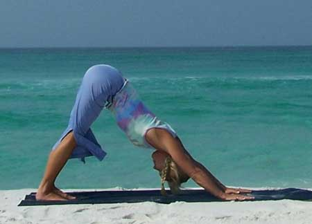 Most Beautiful And Sexiest Women Yoga Coaches And Poses Downward-Facing Dog Pose