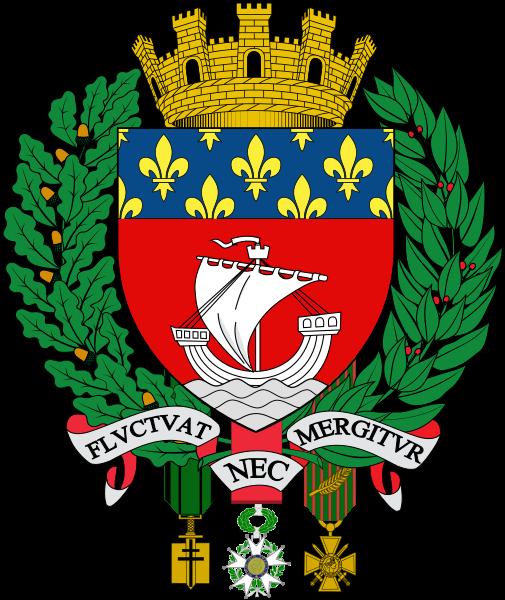 Escudo de la ciudad de par s flvctvat nec mergitvr for Vuelos de barcelona a paris low cost