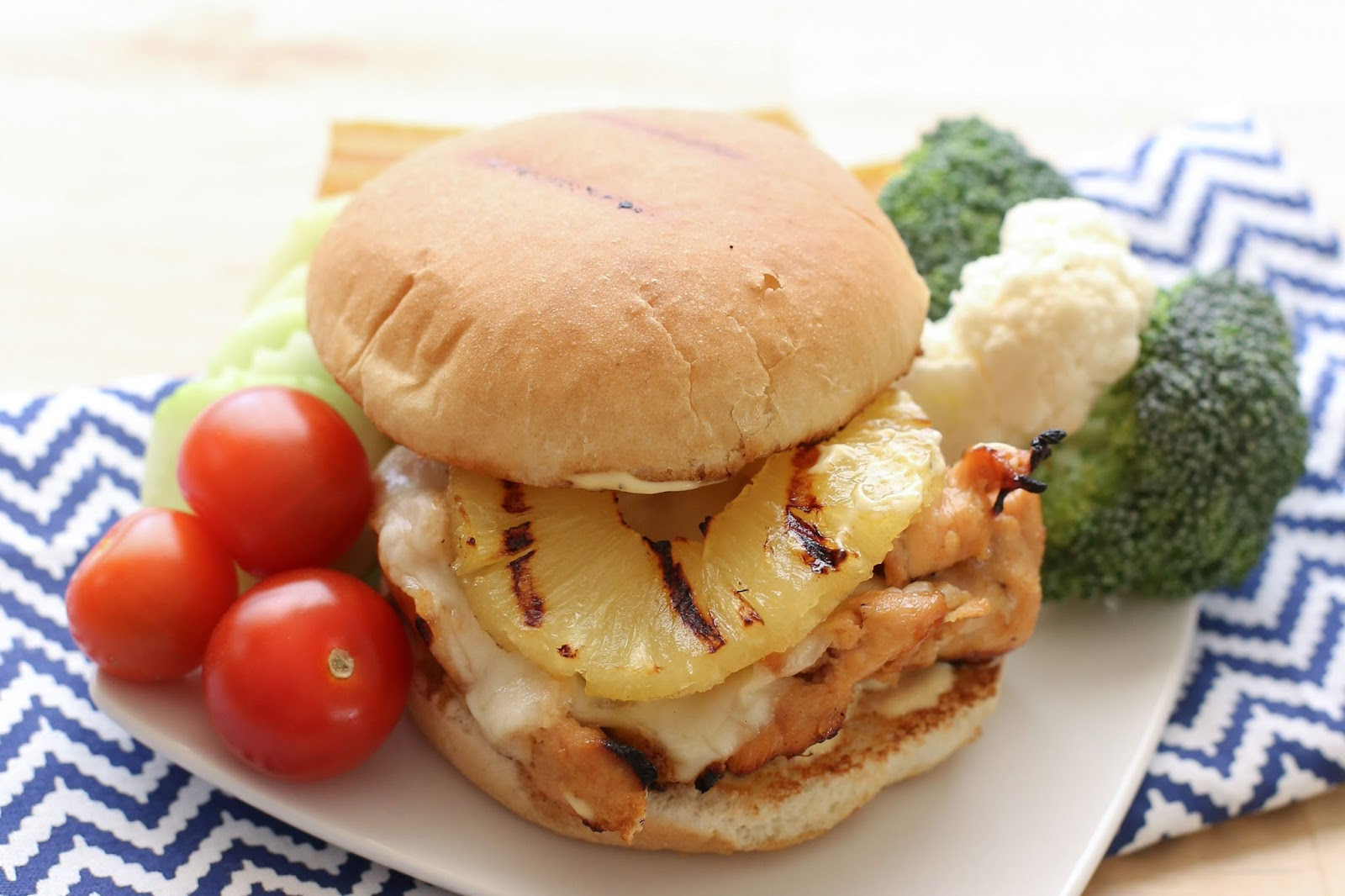 Hawaiian Sweet and Spicy Grilled Chicken Sandwiches recipe by Barefeet ...