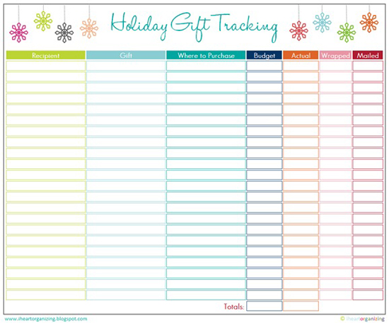 click HERE to download your FREE copy of the Gift Tracking Printable ...