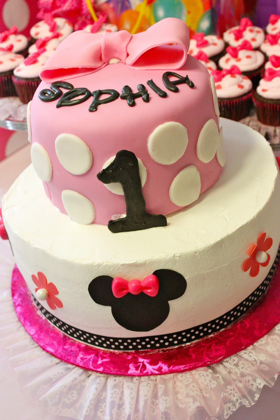 Tini Posh: Sophia\'s 1st Birthday - Minnie Mouse Party