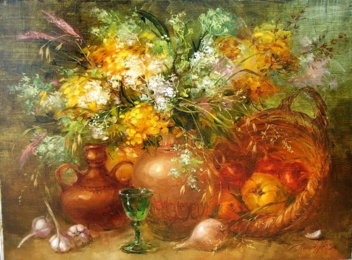Anna Homchik - Анна Хомчик 1976 | Ukrainian Still life painter | The sweet moments