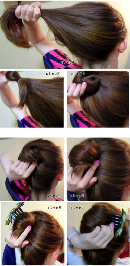 прически на длинные волосы в домашних условиях ракушка