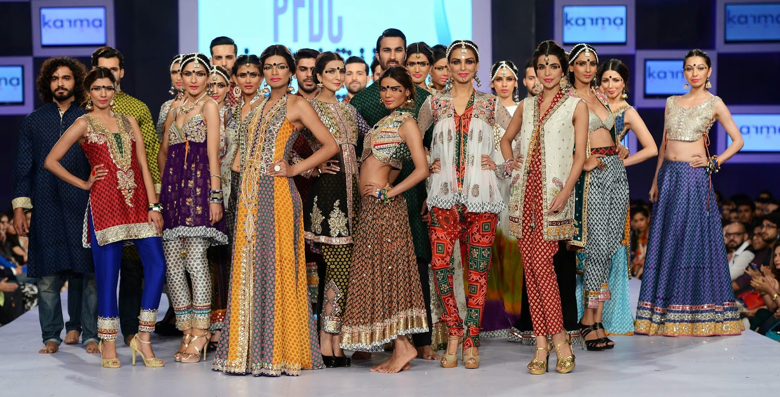 Karma Pink at PFDC Sunsilk Fashion Week 2014 - PSFW - Rajasthani Kahani