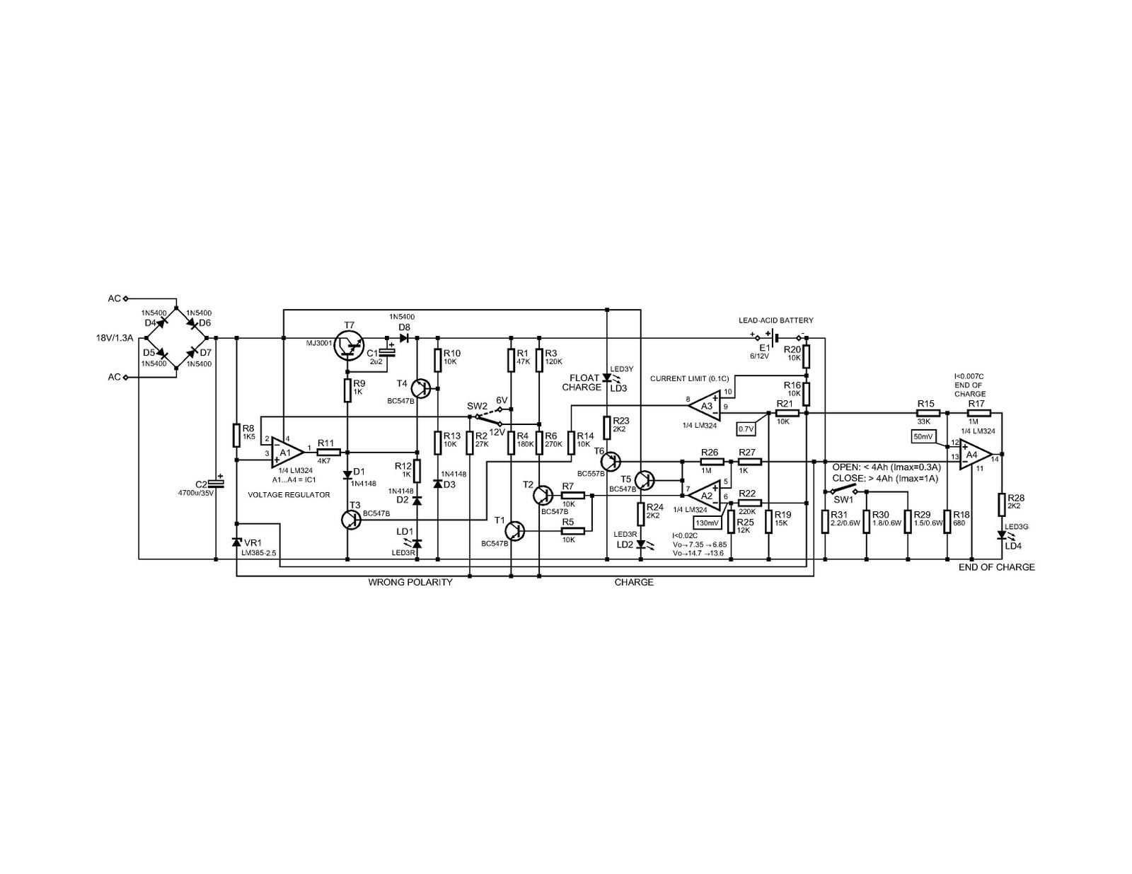48 volt charger circuit schematic diagram