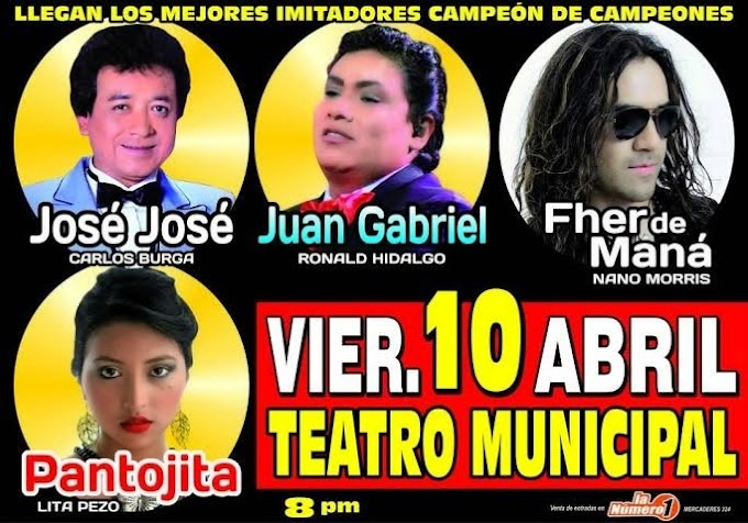 Los Campeones de Yo Soy en Arequipa - 10 de abril