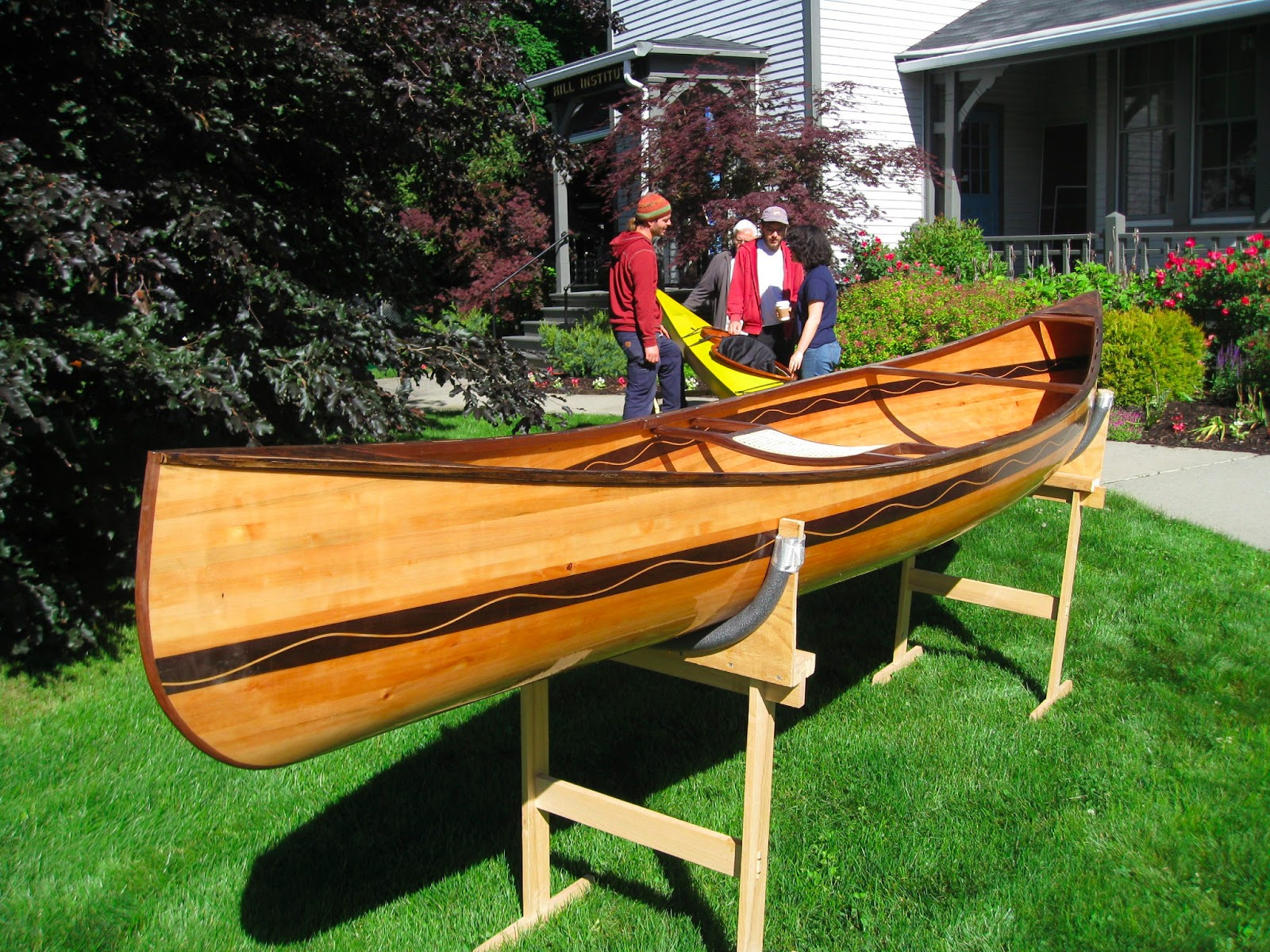 American canoe cedar strip white