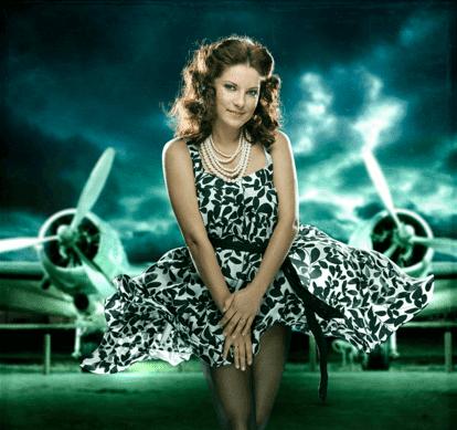 Aleksandrs Sokolovs Vintage-Stewardess - bombastic airlines