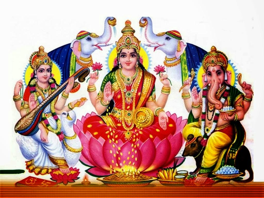 Happy Diwali with Laxmi mata sarasvati devi and ganpati (Wallpaper groups)
