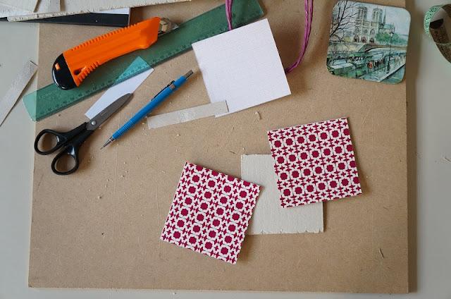 """Também uso o molde para cortar a sacola da C&A. A ideia é fazer um """"sanduíche"""" com o papel panamá - blog Carina Pedro"""