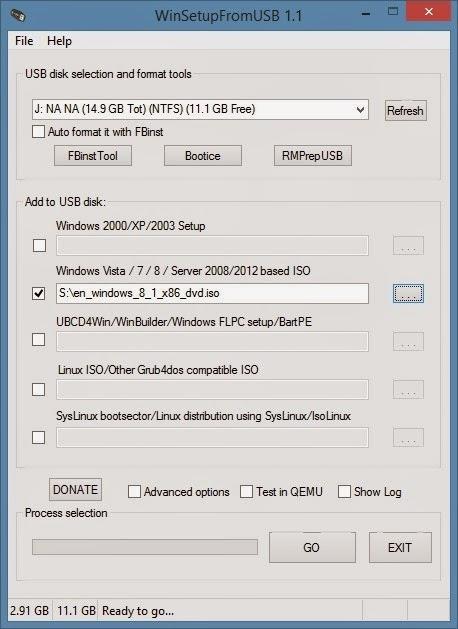 Как сделать загрузочную флешку windows 81 x86