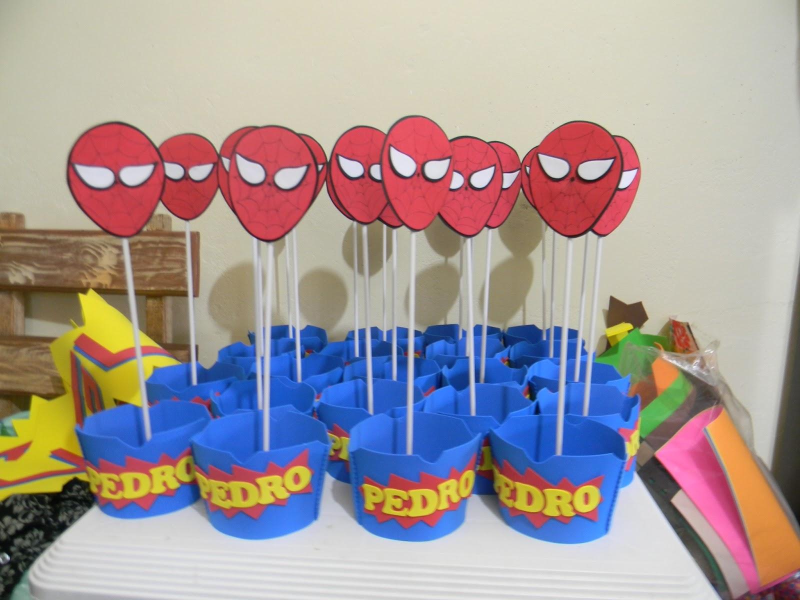 Enfeite de Mesa do Homem Aranha -> Enfeites De Mesa Do Homem Aranha
