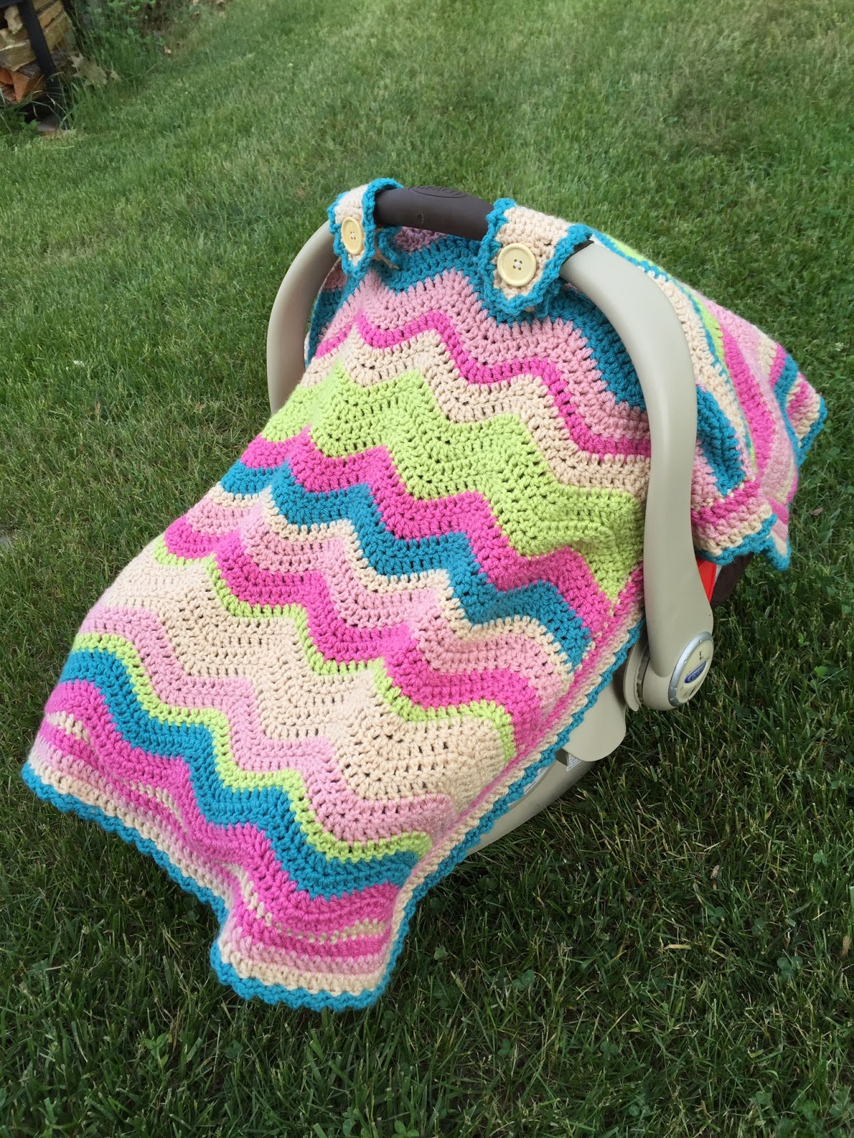 Skein and Hook: Free Crochet Pattern: Emerson Car Seat Cover or Baby