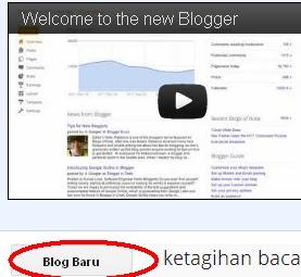 blog baru dengan email sama