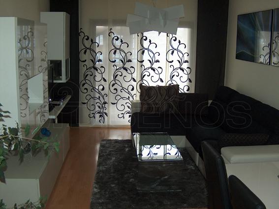 Piso completo salon comedor en colores vis n blanco - Salones en blanco y negro ...