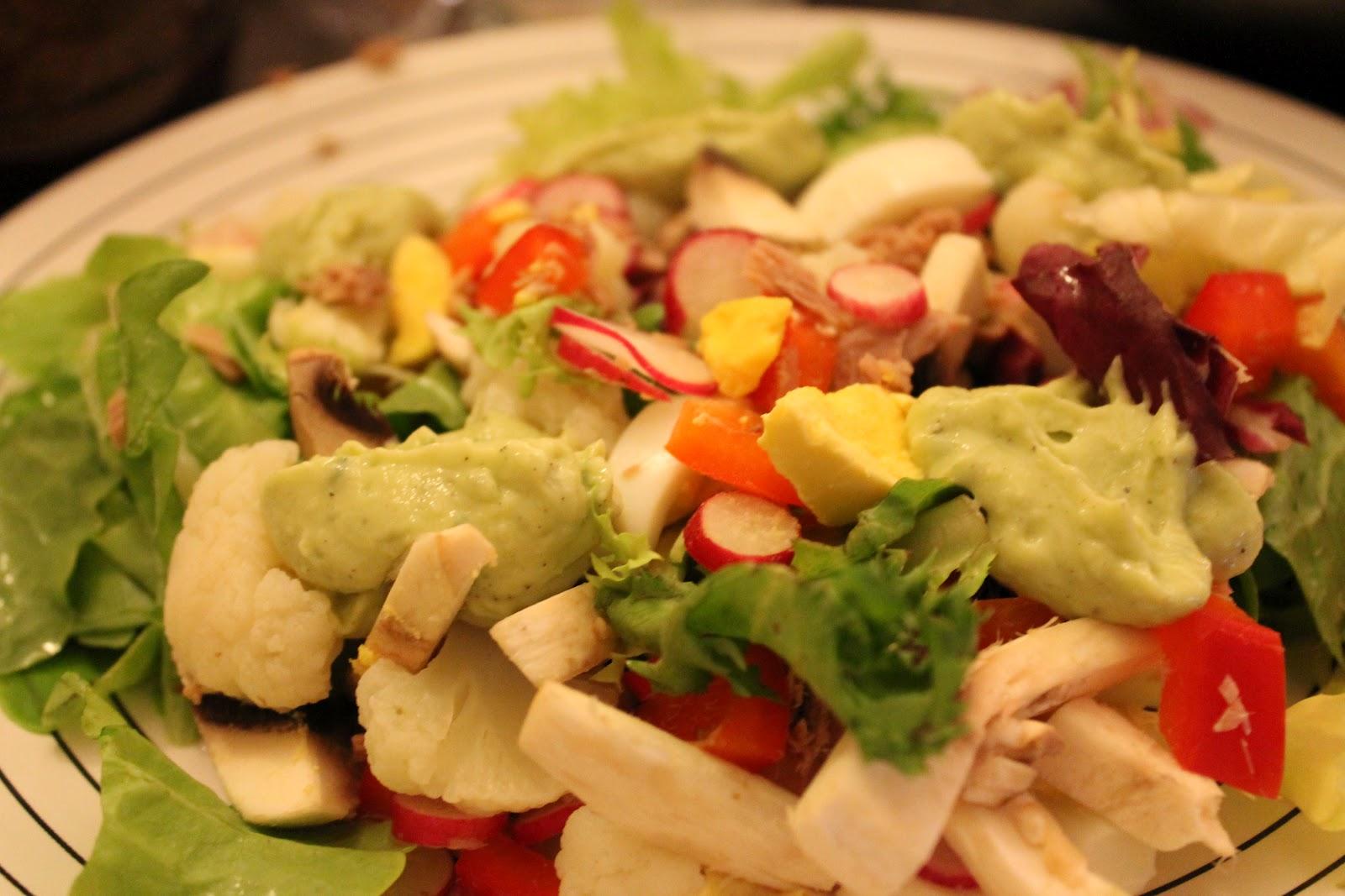 Salade de thon sauce avocat