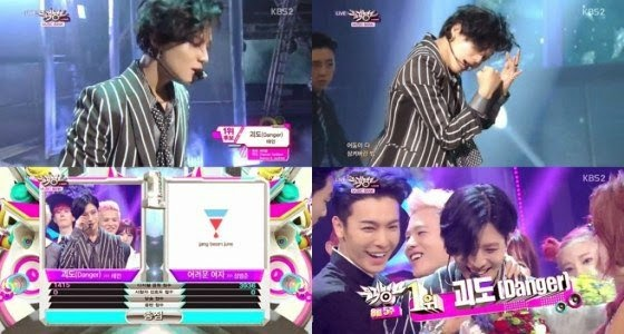 Taemin takes home his first solo win with 'Danger' on Music Bank