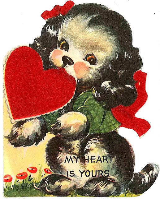 The Pink Peony of Le Jardin free vintage valentine printables – Vintage Valentine Cards to Print