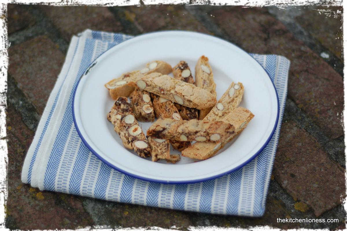 The Kitchen Lioness: Almond, Hazelnut and Dark Chocolate Biscotti